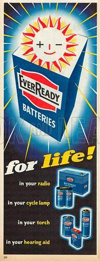Ever Ready Batteries Advertisement, 1955.
