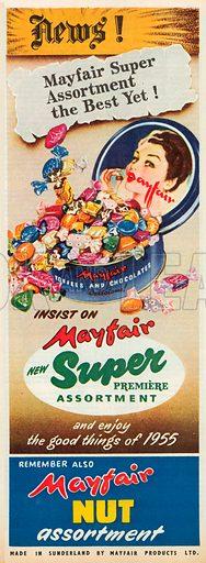 Mayfair Nut Assortment Advertisement, 1955.
