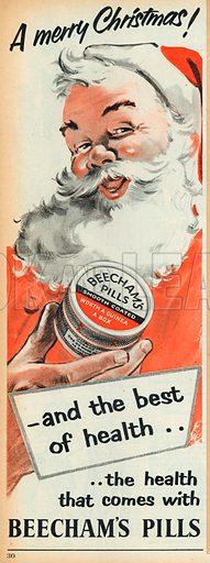 Beecham's Pills Advertisement, 1955.