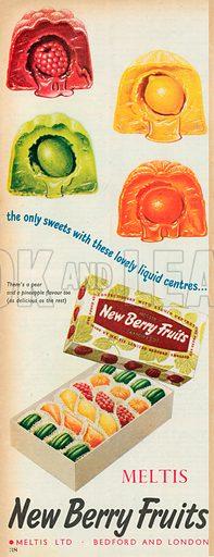 Meltis New Berry Fruits Advertisment, 1955.