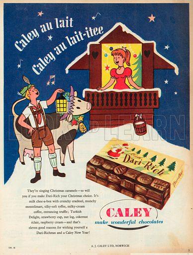 Caley Dari-Rich Chocolates, 1955.