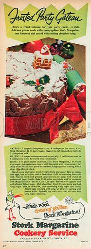 Stork Margarine Cookery Service Advertisement, 1955.