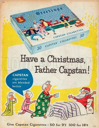 Capstan Cigarettes Advertisement, 1955.