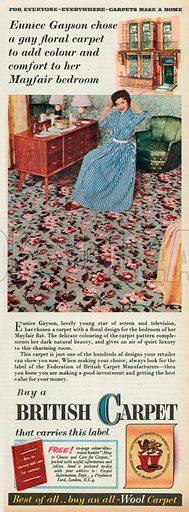 British Carpet Advertisement, 1955.