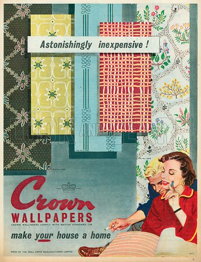 Crown Wallpapers Advertisement, 1955.