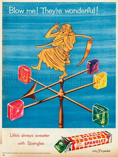 Fruit Flavour Spangles Advertisement, 1953.