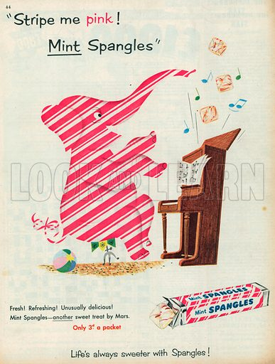 Mint Spangles Advertisement, 1955.