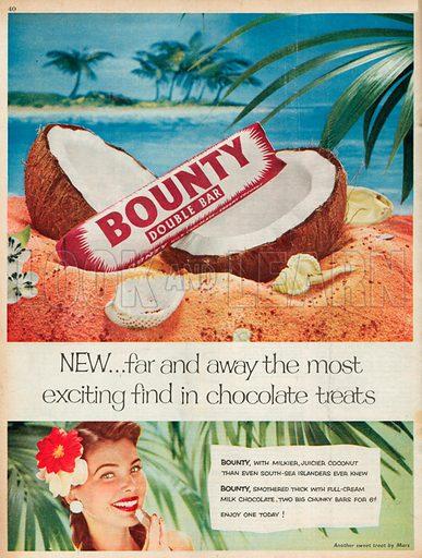 Bounty Double Bar Advertisement, 1955.