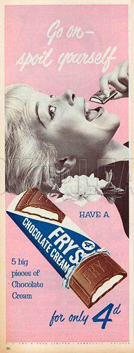 Fry's Chocolate Cream Advertisement, 1955.