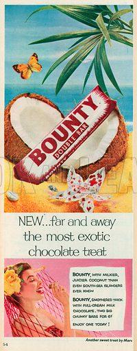 Bounty Double Bar Advertisement, 1954.