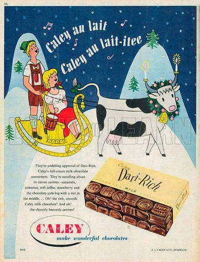 Caley Dari-Rich Advertisement, 1954.