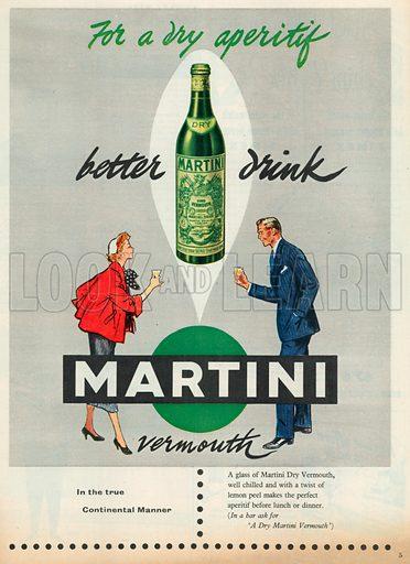 Martini Advertisement, 1954.