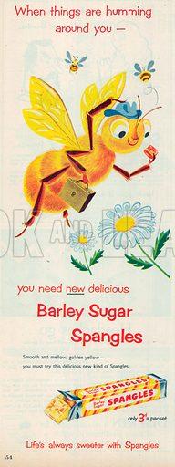 Barley Sugar Spangles Advertisement, 1954.