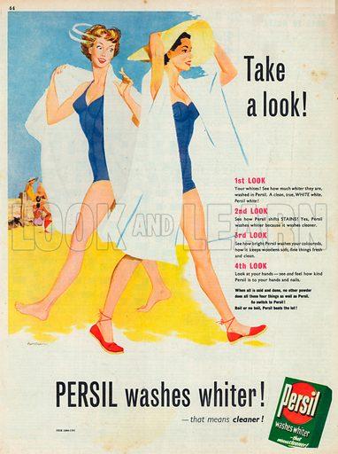 Persil Washes Whiter Advertisement, 1954.