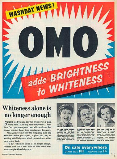 Omo Advertisement, 1954.
