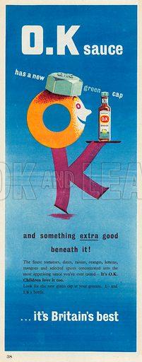 Mason's O.K Sauce Advertisement, 1954.