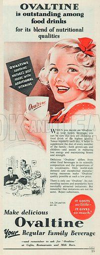 Ovaltine Advertisement, 1953.