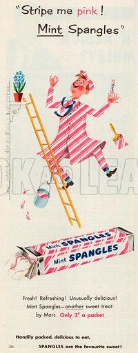 Mint Spangles Advertisement, 1953.