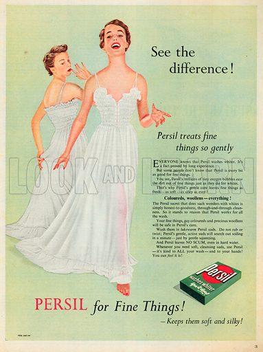 Persil Washes Whiter Advertisement, 1953.