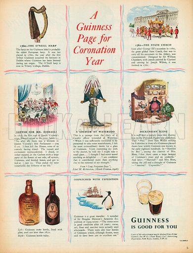 Guinness Advertisement, 1953.