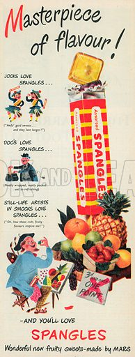 Assorted Spangles Advertisement, 1953.