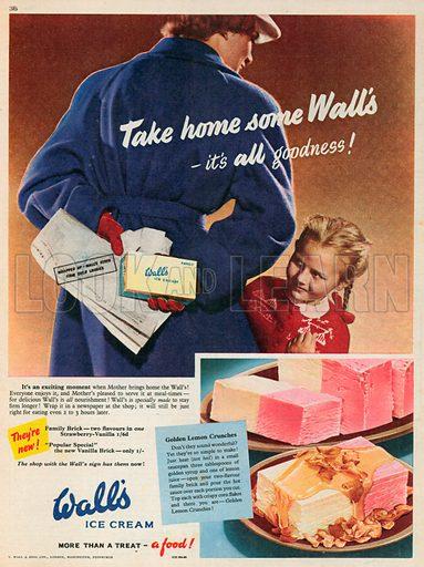 Wall's Ice Cream Advertisement, 1953.