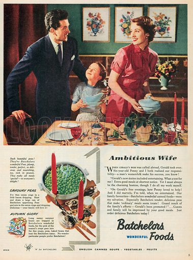 Batchelors Advertisement, 1952.