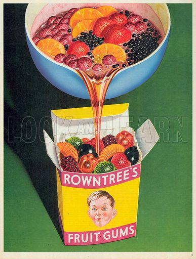 Rowntree's Fruit Gums Advertisement, 1952.