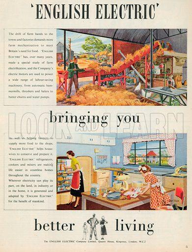 English Electric Advertisement, 1952.