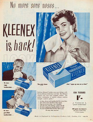 Kleenex Advertisment, 1952.