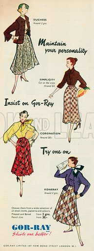 Gor-Ray Advertisement, 1952.