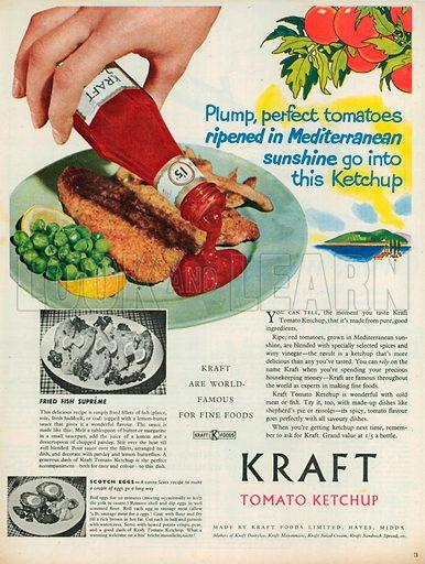 Kraft Tomato Ketchup Advertisment, 1952.