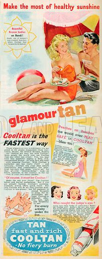 Cooltan Advertisement, 1954.