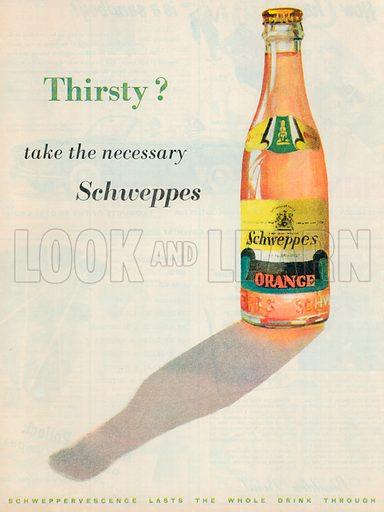 Schweppes Orange Drink Advertisement, 1954.