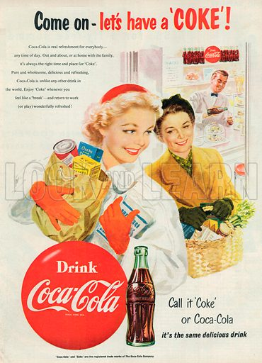 Coca-Cola Advertisement, 1954.