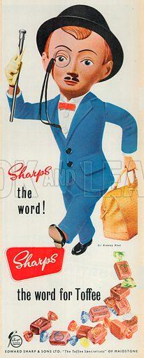 Sharps Toffee Advertisement, 1954.
