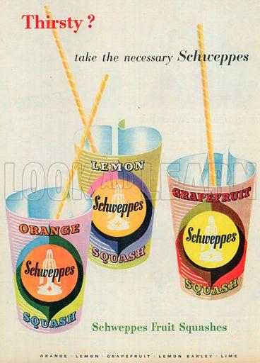 Schweppes Squash Advertisement, 1954.