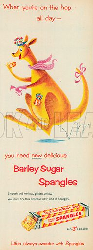 Barley Sugar Spangles Advertisement, 1954.
