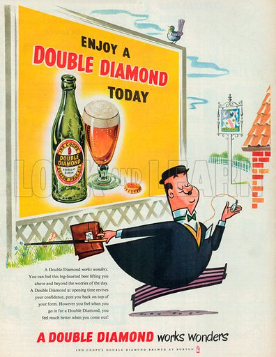 Double Diamond Advertisement, 1954.