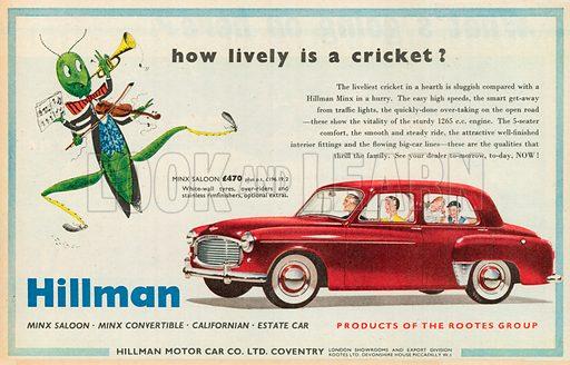 Hillman Advertisement, 1954.