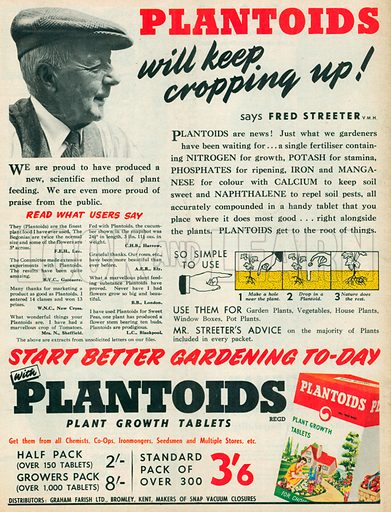 Plantoids Advertisement, 1954.