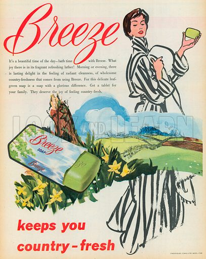 Breeze Soap Advertisement, 1954.
