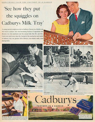 Cadbury's Milk Tray Chocolates Advertisement, 1954.