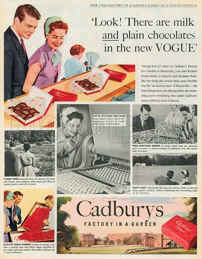 Cadburys Vogue Advertisement, 1954.