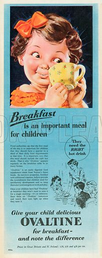 Ovaltine Advertisement, 1954.
