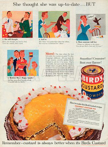 Bird's Custard Powder Advertisement, 1954.