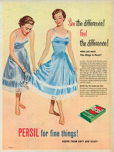 Persil Washes Whiter Advertisement, 1954.