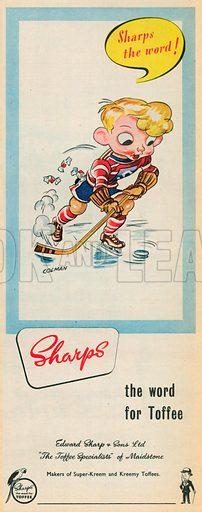 Sharps Toffee Advertisement, 1953.