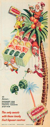 Meltis New Berry Fruits Advertisment, 1953.