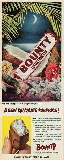Bounty Double Bar Advertisement, 1953.